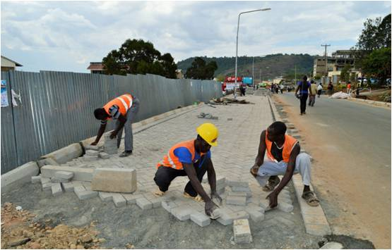 Ongoing carbro works in Kabarnet