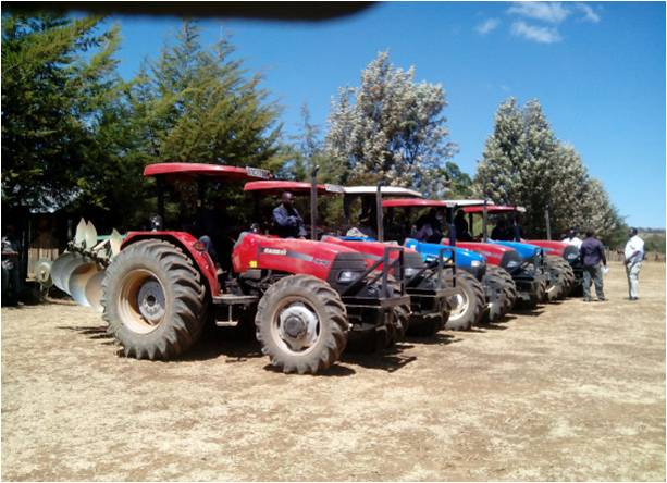 Some of the tractors bought by the county government